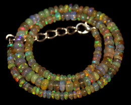 62 Crts Natural Ethiopian Welo Opal Beads Necklace 481