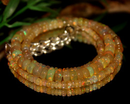 48 Crts Natural Ethiopian Welo Opal Beads Necklace 482