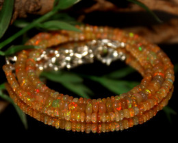 30 Crts Natural Ethiopian Welo Opal Beads Necklace 484
