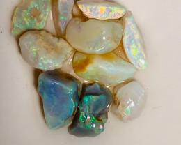 Select Cutters Rough - High Grade Bright Multicolour Crystal Seams