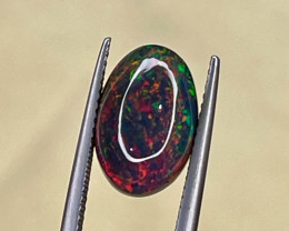 Natural Ethiopian Opal 3.46 Cts Smoked Black