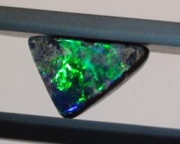 1.30 ct $1 NR Gem Blue Green Color Natural Boulder Opal Ring Stone