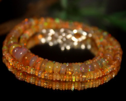 40 Crts Natural Ethiopian Welo Opal Beads Necklace 517