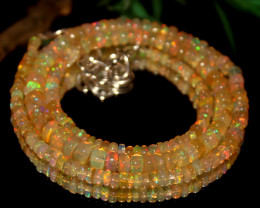 40 Crts Natural Ethiopian Welo Opal Beads Necklace 514