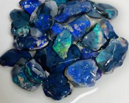 Super Black Seam Rough Opals- Gem Cutter Blacks #077