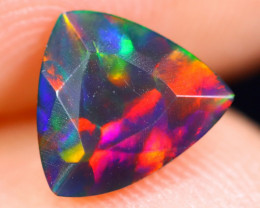 0.63cts Natural Ethiopian Welo Faceted Smoked Opal / HM1832