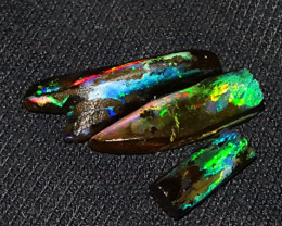 17.00 CRT 3PCS BEAUTiFULL COLOR SPECIMENT INDONESIAN OPAL WOOD FOSSIL*