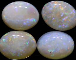 4 CTS 9X7 WHITE OPAL CUT STONE PARCEL LO-6458-lightningopals inc