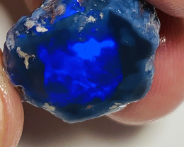Gate of Heavens**** Royal Blue on Black Nobby Opal Rub#107