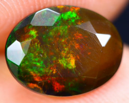 1.26cts Natural Ethiopian Welo Faceted Smoked Opal / HM1861