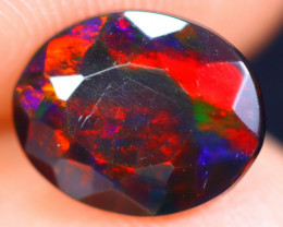 1.11cts Natural Ethiopian Welo Faceted Smoked Opal / HM1863