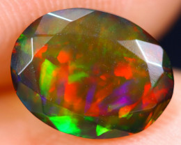 1.08cts Natural Ethiopian Welo Faceted Smoked Opal / HM1866