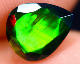 1.15cts Natural Ethiopian Welo Faceted Smoked Opal / HM1867