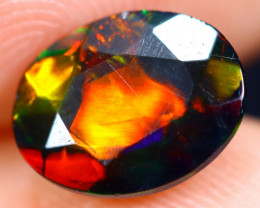 1.04cts Natural Ethiopian Welo Faceted Smoked Opal / HM1868