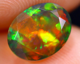 1.31cts Natural Ethiopian Welo Faceted Smoked Opal / HM1871