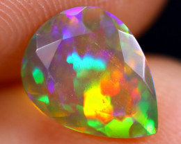 1.18cts Natural Ethiopian Welo Faceted Smoked Opal / HM1873