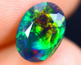1.13cts Natural Ethiopian Welo Faceted Smoked Opal / HM1874