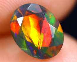 1.29cts Natural Ethiopian Welo Faceted Smoked Opal / HM1875