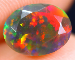 1.28cts Natural Ethiopian Welo Faceted Smoked Opal / HM1877