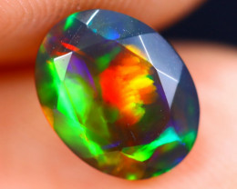 1.40cts Natural Ethiopian Welo Faceted Smoked Opal / HM1880