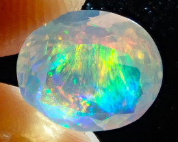 2.04ct Facetted Fire Opal Contraluz
