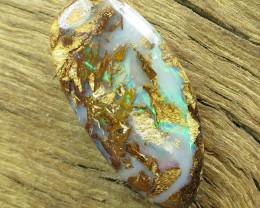 13cts, BOULDER WOOD FOSSIL OPAL.
