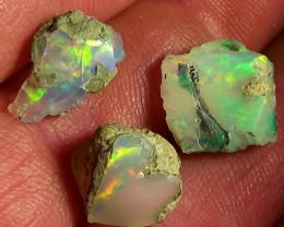11.45 cts Ethiopian Welo 3pcs rough opals