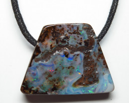 50.54ct Australian Boulder Opal Drilled Pendant Stone