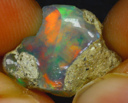 5.23Ct Multi Color Play Ethiopian Welo Opal Rough J1109/R2