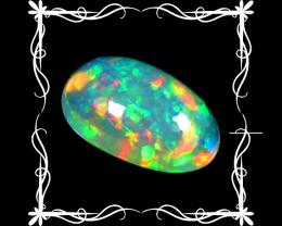 Opal 2.59 Cts AAA Multicolor cabochon BGC645