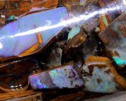 490 cts (75 pcs )Boulder Opal Rough parcel DO-jar6
