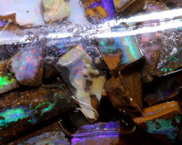 490 cts (90 pcs )Boulder Opal Rough parcel DO-jar8