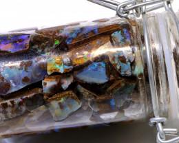 500 cts (85 pcs )Boulder Opal Rough parcel DO-jar9
