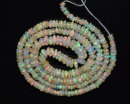 27.50 Ct Natural Ethiopian Welo Opal Beads Play Of Color OB187