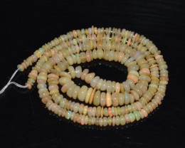30.95 Ct Natural Ethiopian Welo Opal Beads Play Of Color OB192