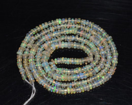 18.30 Ct Natural Ethiopian Welo Opal Beads Play Of Color OB193