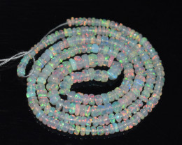 29.50 Ct Natural Ethiopian Welo Opal Beads Play Of Color OB196