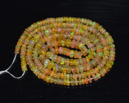 30.40 Ct Natural Ethiopian Welo Opal Beads Play Of Color OB197