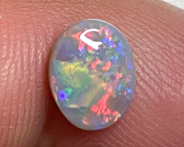 1.10 ct SOLID DARK OPAL LIGHTNING RIDGE GEM $1 N/R AUCTION SBA100121