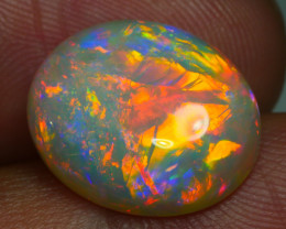 5.35 CRT AMAZING RED BAMBOO LEAF PATTERN FULL DELUXE COLOR WELO OPAL
