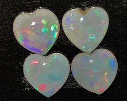 1.92 cts opala lapidada forma coração