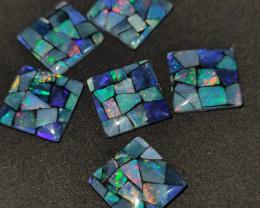 38.20 cts opala mosaico forma quadrado