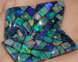 24.45 cts opala mosaico forma navete