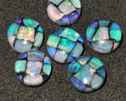 5.60 cts opala mosaico forma redonda