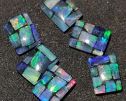 5.40 cts Opala mosaico Forma retangular