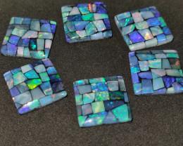 58.20 cts opala mosaico forma quadrada
