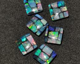 3.80 cts Pedra mosaico Forma quadrado