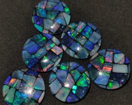 47.95 cts opala mosaico forma redonda