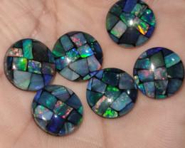 5.45 cts opala mosaico forma redonda
