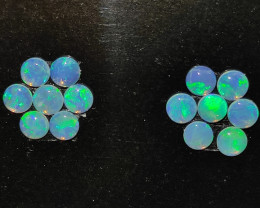1.25 cts opala lapidada forma redonda